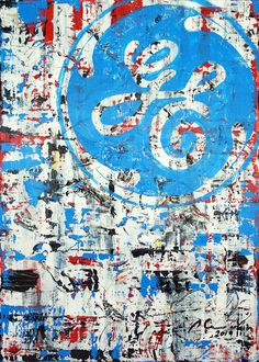 """Marwan Chamaa, """"GE"""", 2019, acrylic on canvas, 94 x 131.50 cm (37 x 51.77 inch). All images are used with the permission by the artist. Re-Pinning is permitted, however, please do not distribute, reproduce, reuse in any shape or form without first contacting the artist: marwan@art-factory.us © Marwan Chamaa First Contact, Reuse, City Photo, Shapes, Canvas, Gallery, Artist, Image, Canvases"""