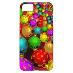 Floating Holiday Ornaments iPhone 5C Cases