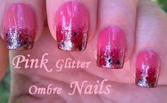 Ombre nail art in pastels gold diagonal sponge nails beauty pink glitter ombre nailart easy sponge nail designs for more easy ideas please prinsesfo Image collections