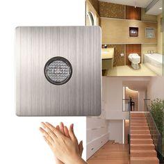 220V Wall Mount Voice Light Sensor Switch Sound&Light Control Delay Switch