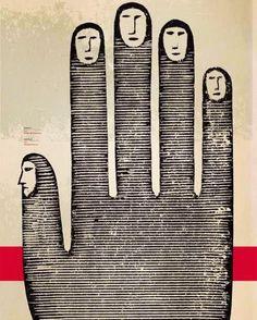 Light Through Rain - red-lipstick: Guido Scarabottolo (Italian, b. Hand Kunst, Graphic Art, Graphic Design, Hand Art, Art Inspo, Illustrators, Design Art, Cool Art, Art Drawings