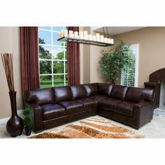 Costco: Adler Leather Sectional Beautiful sectional eith restrictions