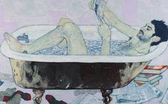 "Hope Gangloff - Freelancer (Mikey Hernandez), 2011. Acrylic on canvas, 54"" by 81"" / 56"" by 83"" by 2 1/2""."
