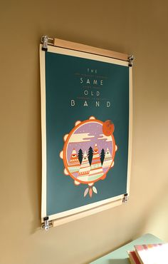 Affiche The Same Old Band par Weareted imprimée en sérigraphie par Dezzig