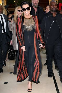 Pin for Later: The 1 Designer Who Makes Stars Feel Sexy at Every Single Age Kris Jenner, 60 Wearing Balmain in 2015.