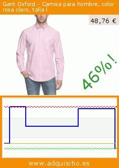Gant Oxford - Camisa para hombre, color rosa claro, talla l (Ropa). Baja 46%! Precio actual 48,76 €, el precio anterior fue de 89,90 €. https://www.adquisitio.es/gant/camisa-regular-fit-manga-37