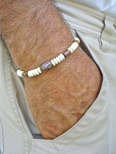 Men's Spiritual Bracelet with Semi Precious Tiger's by tocijewelry, $30.00
