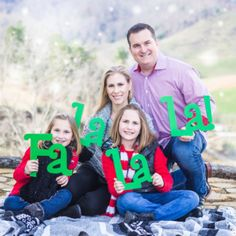 "These ""Fa La La"" photo props sign set includes your choice number of pieces and is carved and painted in your choice of color! This photo prop makes for great holiday photo cards - everyone is all smi"