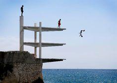 Une photo du plongeoir de la Réserve à Nice fait le tour du monde