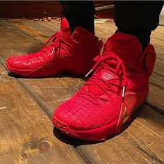 designer fashion 2bbb0 8f97c Here is images of these Unreleased at the time Nike Lebron 12 Red Gold  Sneakers Lebron is wearing today, these are pretty sweet.
