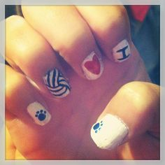 Volleyball nails, Umm yes.