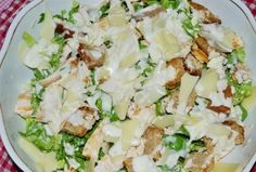 Salata Caesar cu pui #reteta #salata Potato Salad, Salad Recipes, Potatoes, Ethnic Recipes, Food, Recipes For Salads, Potato, Meals, Yemek