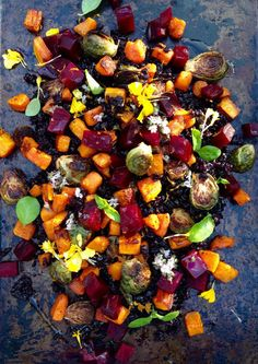 Autumn Roasted Veggie Salad   Community Post: 21 Amazing Side Dishes That Will Make You Forget About The Turkey