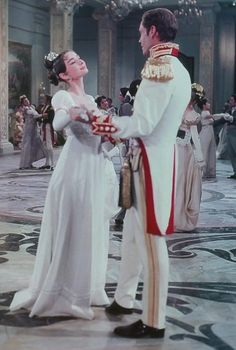 """Audrey Hepburn and Mel Ferrer in """"War and Peace"""", 1956"""