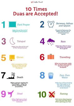 """10 Times Duas are Accepted Duas are the strongest connection to Allah (swt) Allah says:""""When my servants ask you concerning me, (tell them) I am indeed close (to them. I listen to the prayer of every supplicant when he calls me"""" [Quran Duaa Islam, Islam Hadith, Islam Muslim, Allah Islam, Islam Quran, Muslim Women, Prophets In Islam, Alhamdulillah, Islamic Phrases"""