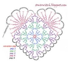 Crochet Snowflake Pattern, Crochet Snowflakes, Crochet Blanket Patterns, Crochet Motif, Crochet Stitches, Knit Crochet, Heart Patterns, Hobbies And Crafts, Crochet Projects