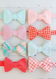 I love bow ties, especially these colors.