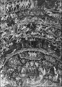 "Dante's Inferno- ""Through me you enter into the city of woes, through me you enter into eternal pain, through me you enter the population of loss...abandon all hope, you who enter here."""