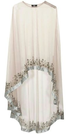 Grey floral beads embroidered cape available only at Pernia's Pop Up… Abaya Fashion, Muslim Fashion, Modest Fashion, Indian Fashion, Fashion Clothes, Fashion Dresses, Womens Fashion, Abaya Style, Hijab Style