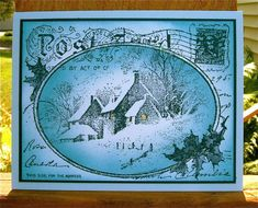 Vintage Snowy Postcard by NaomiW - Cards and Paper Crafts at Splitcoaststampers