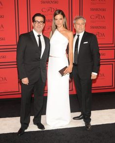 Alessandra Ambrosio with the designers of KaufmanFranco. @CFDA