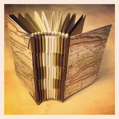 So cool!!!! How to make a piano hinge book. Definitely gonna try this, 'cause I hate sewing signatures. They never come out straight.