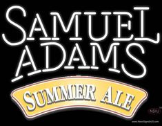 Samuel Adams Summer Ale White Neon Beer Sign – NeonSignInUSA