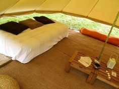 Sibley 500 Ultimate Cotton Canvas Bell Tent w Zip in Floor Glamping | eBay