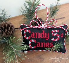 Candy Canes by Sue Hillis - Stitching Dreams: Catching Up With Christmas On a Very Special Day