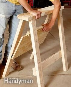 Sawhorse Plans #WoodworkingPlansWorkbench