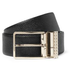 this is a must have:  Valentino Cross-Grain Leather Belt