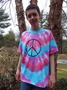Peace Sign Tie Dye Tshirt- XL Tie Dye Peace Sign- Peace Sign Shirt- Hippie Clothes- Hippie Clothing- Festival Wear- TieDye Tshirt, Adult XL by CreationsbyMaris on Etsy