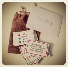 gift idea for newlyweds - date night in a bag