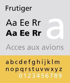 frutiger sans typeface