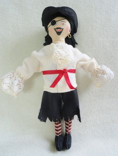 Pirate Doll - Handmade Toy Cloth Doll by Joelles Dolls. $30