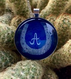 Initial necklace Horseshoe necklace Horse necklace Letter A necklace Lucky A initial jewelry Monogram necklace Gift for horse lover