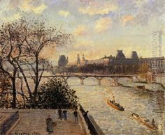 Title:	The Louvre and the Seine from the Pont-Neuf 1902 Artist:	Camille Pissarro