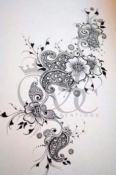 tattoos cover up tattoos cover up Unique Tattoos, Beautiful Tattoos, Leg Tattoos, Body Art Tattoos, Rose Tattoos, Tribal Tattoos, Tatoos, Henna Designs, Tattoo Designs