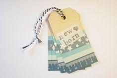 masking tape tags, persanolized birth tags, newborn. set of 3