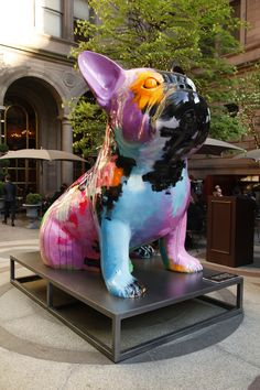 """""""Doggy John"""" Exhibition, by Julien Marinetti- In front of the New York Palace Hotel"""