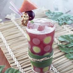 Try a fun drink for the kids' table: Kids Watermelon Grape Fizz #Recipe #eatmorewatermelon