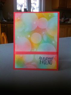 Stampin' With Jac: Fun technique - Bokeh with sponging