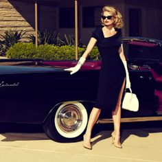 yes! Need a black convertible. And she is fabulously chic