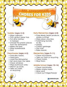 great for summer to get kids involved around the house!
