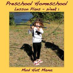 Preschool Homeschool - Week 1 - Mud Hut Mama