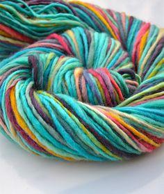 Wake me up worsted BFL handspun yarn by Yarnachy on @Etsy