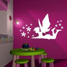 Details Zu 3D WANDTATTOO WANDBILD Kinderzimmer Fee Elfe Blume Schmetterling  WAND TATTOO