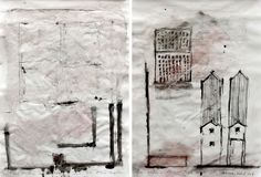 McEwan, C (2011) Sketch Studies of Aldo Rossi's San Cataldo Cemetery at Modena [Mixed media with chalk charcoal and india ink on layout pape...