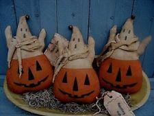 Pumpkins with ghosts.  Found on Ebay.