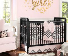 8 Nursery Trends for the New Year - Dramatic Pink and Black